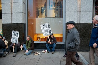 No on Sit Lie Food Not Bombs giving out free food in front of Macy's Union Square 15 | by Steve Rhodes