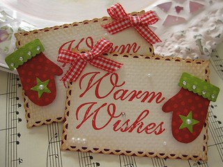 Warm Wishes Mitten Embellishments | by vsroses.com