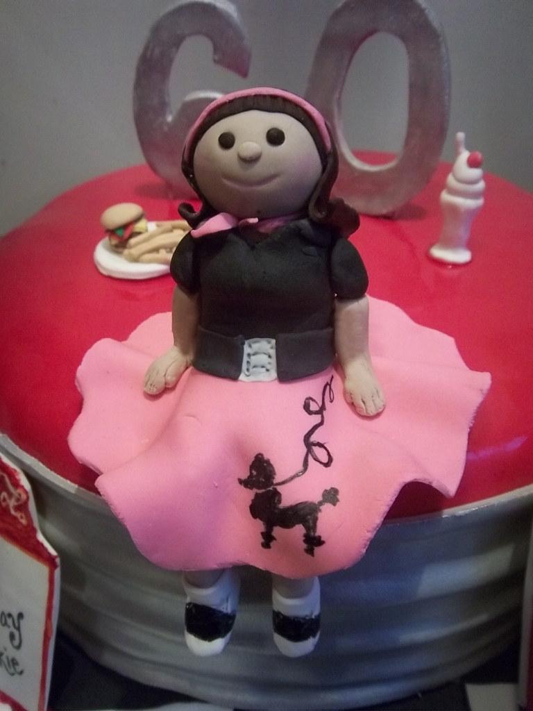 50s Diner Theme Birthday Cake