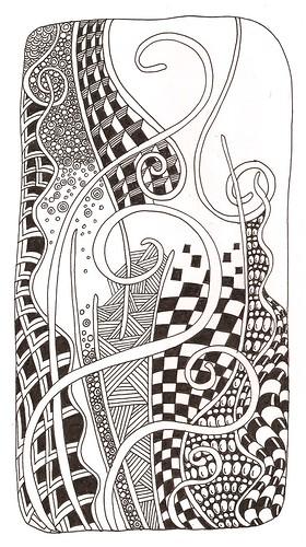 Line Art Zentangle : Wavy gravy barbara flickr