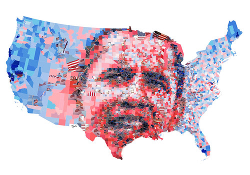 Barack Obama: The red, the blue and the United States of America. | by tsevis