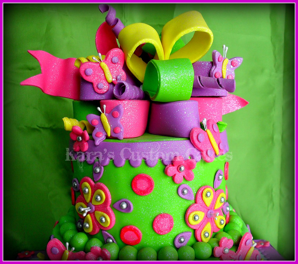 Puppy Dogs Butterflies Birthday Cake Icing Smiles Flickr