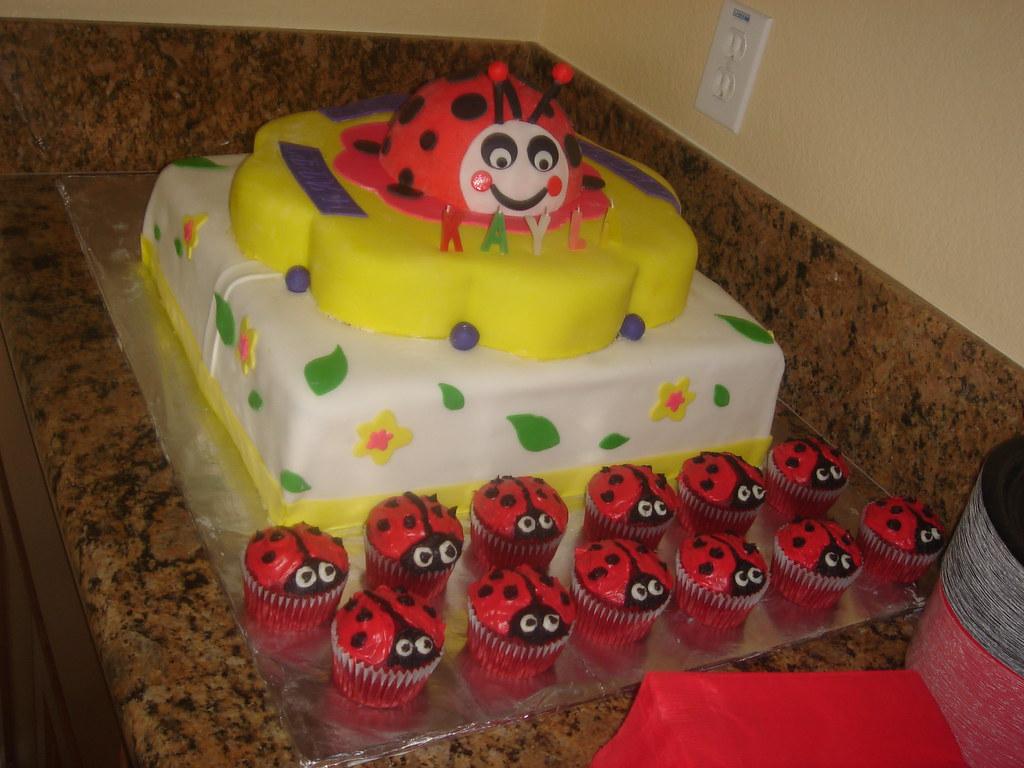 Ladybug 1st Birthday Cake Cupcakes Ladybug Chocolate Cak Flickr