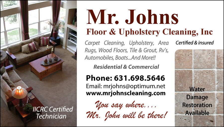 Business Card Design For Mr Johns Floor And Upholstery Flickr