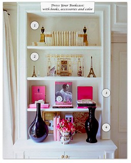 How to Dress Your Bookcase  - color | by Design Wotcha! http://designwotcha.com/