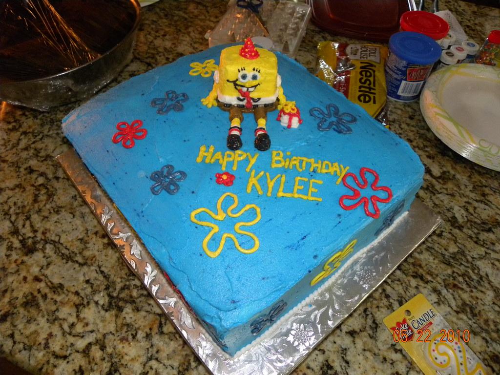 Awe Inspiring Spongebob Squarepants Kylees 2Nd Birthday Cake Flickr Birthday Cards Printable Inklcafe Filternl
