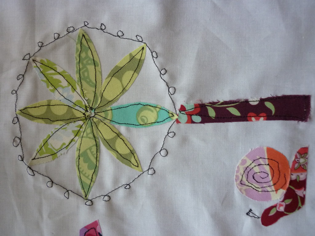 Freehand Machine Embroidery Tree Blogged Here Nelliesnicet Flickr