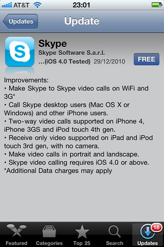 Skype iPhone app now has video calling support | by kosso