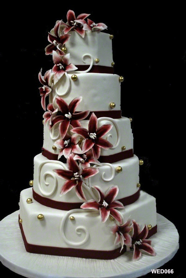 WED066 5 tier with hex round square and lilly spiral weddi… | Flickr