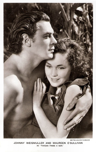 Johnny Weissmuller and Maureen O'Sullivan in Tarzan Finds A Son! (1939)
