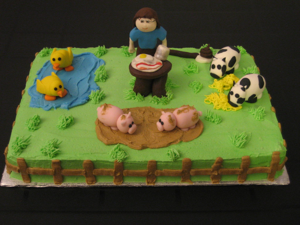 Farm Birthday Cake Diane Flickr