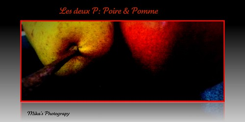 B1992 - Les deux P: Pomme & Poire | by mika53 Busy catching up on my invitations.