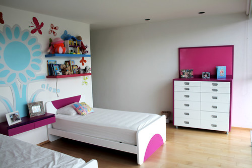 Camas individuales para ni as dise o de habitaciones for Diseno 3d habitaciones