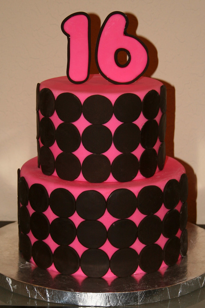Sweet 16 Cake A fantastic pink and brown sweet 16 cake Cakes by