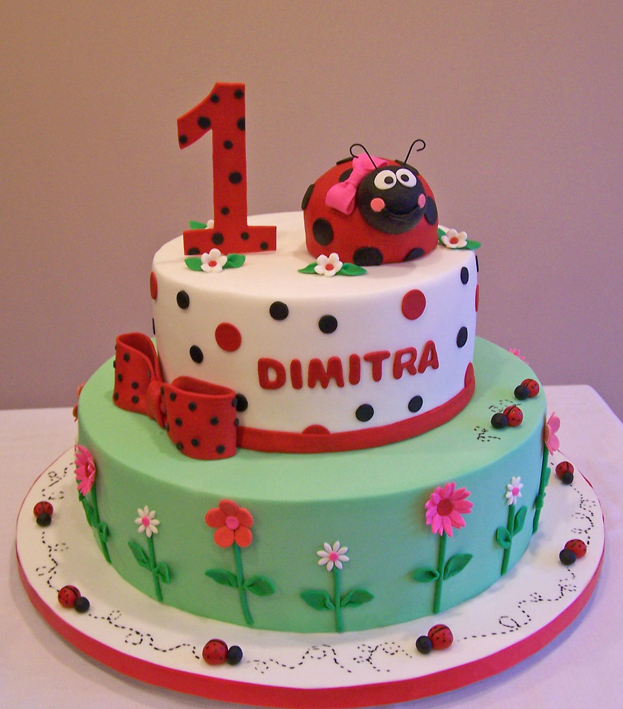 Ladybug First Birthday Cake This Is An Old Design Of Mine Flickr