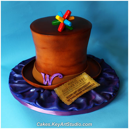 Willy Wonka Cake | by Cakes.KeyArtStudio.com