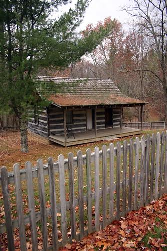 Pipestem State Park Old Log Cabin 02 A Closer Shot Of