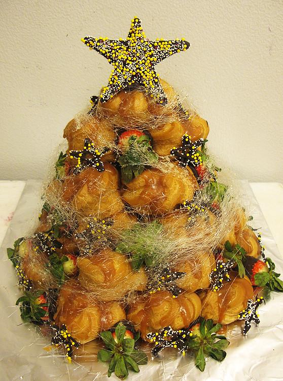 ... Croquembouche Christmas Tree Cake w/ Spun Sugar by Tony