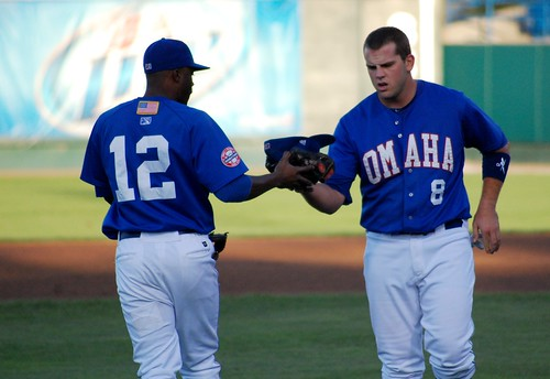 Irving Falu and Mike Moustakas | by Minda Haas Kuhlmann