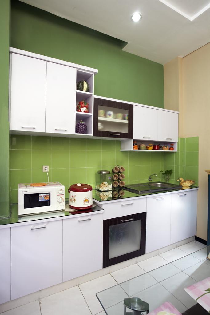 Dapur Dengan Desain Minimalis Yang Didominasi Warna Hijau Flickr