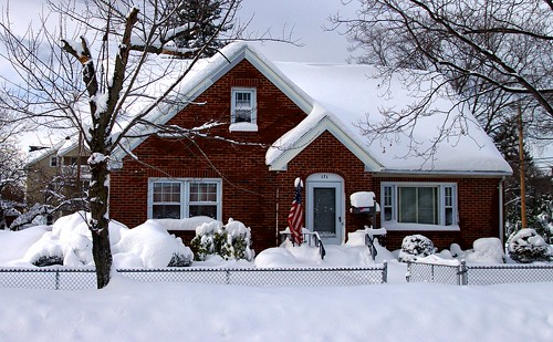 snow covered house - photo #28