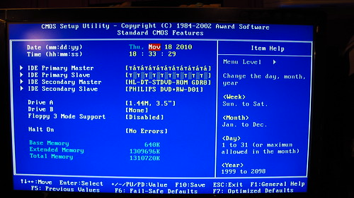 how to change primary hard drive in bios