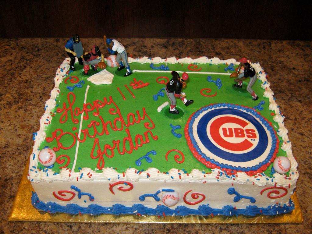 Cubs Baseball Birthday Cake 300734 Creative Cakes Tinley Park
