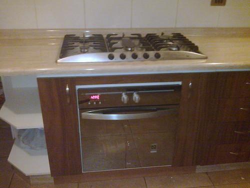 Mueble base con encimera y horno empotrado for Mueble horno empotrado