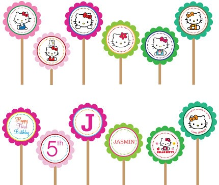 Hello kitty printable diy custom cupcake toppers etsy flickr hello kitty printable diy custom cupcake toppers by hunnyblessing maxwellsz