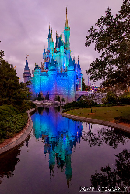 Cinderella's Castle at Dusk