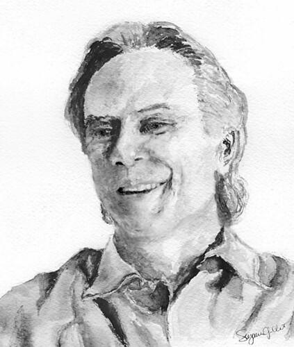 David Carson ink wash portrait | David Carson ink wash ... David Carson Portrait