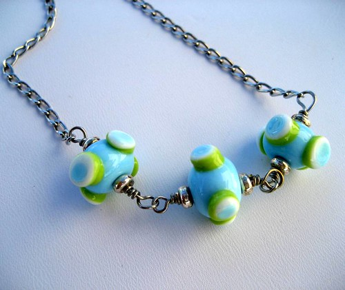 Simply Funky Lampwork Necklace | by brsuich