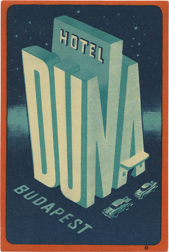 Hotel Duna, Budapest (119mm × 79mm) | by typeasimage
