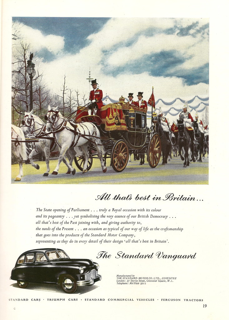 Standard Vanguard motor car advert, issued by Standard Mot… | Flickr