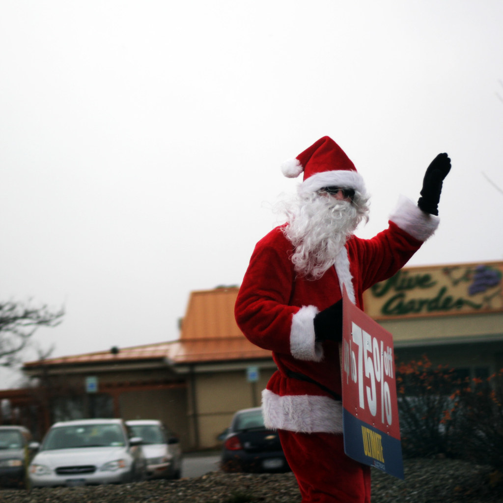 Santa Sales   We were on our way to Olive Garden to have din…   Flickr