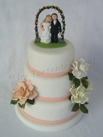Hochzeitstorte Mit Rosenbogen Brautpaar Tortenfiguren Flickr