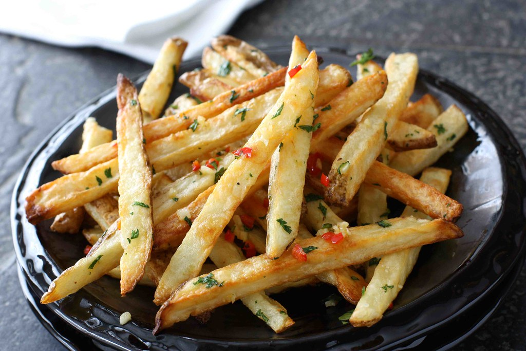 Baked French Fries with Chile Peppers & Cilantro LS | Flickr