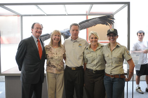 President Richard Rush, Professor Angela Chapman, and The U.S. Fish and Wildlife Service staff | by California State University Channel Islands