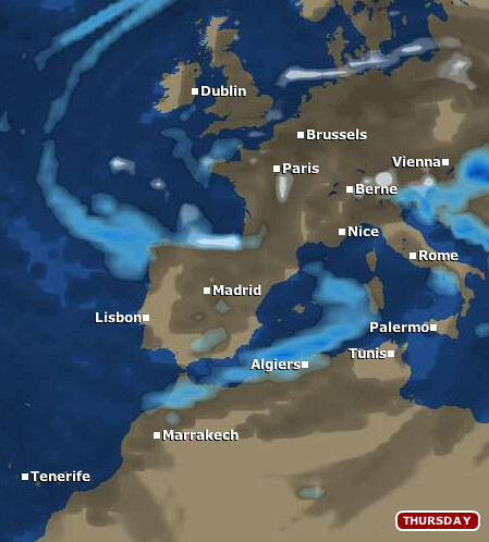 europe map according to bbc weather foreacst service flickr. Black Bedroom Furniture Sets. Home Design Ideas