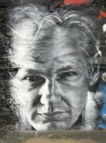 Julian ASSANGE arrested, painted portrait - Wikileaks | by Abode of Chaos