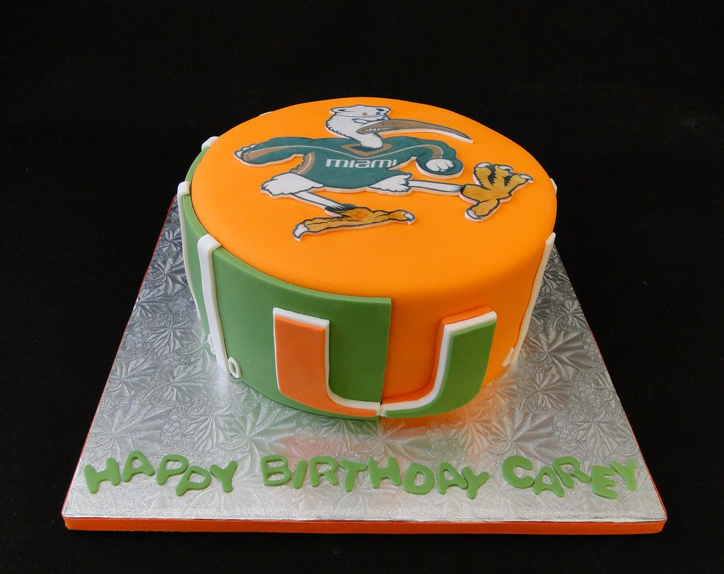 University of Miami Cake UM Cakes By Elisa Serving all of Flickr