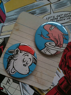 Cat in the hat badge set for Katy | by apryl.lowe