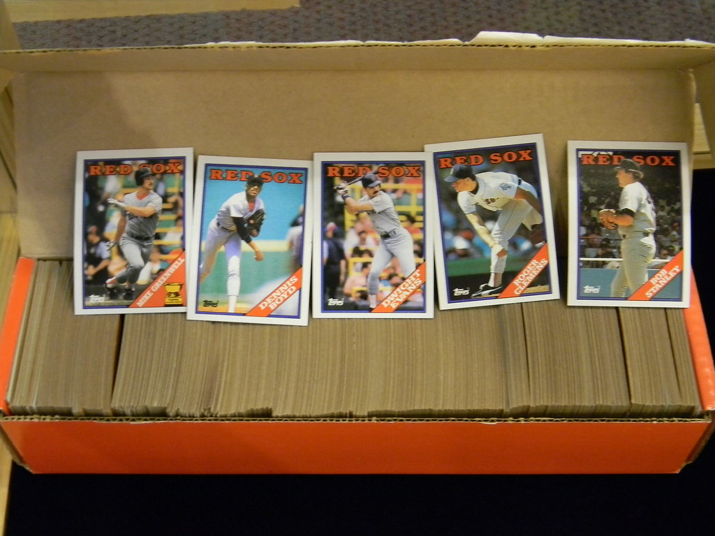 Red Sox Baseball Cards Portsmouth Public Library Nh Flickr