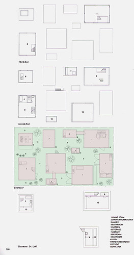 西澤立衛 Ryue Nishizawa - 森山邸 Moriyama House Drawing 01 - site ...