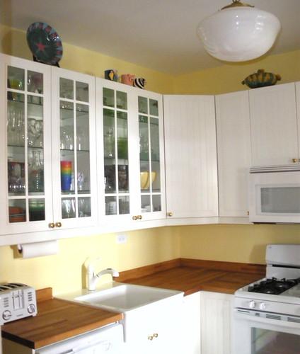 Finished ikea kitchen counters ikea behandla stadt cabin flickr - Ikea beech kitchen cabinets ...