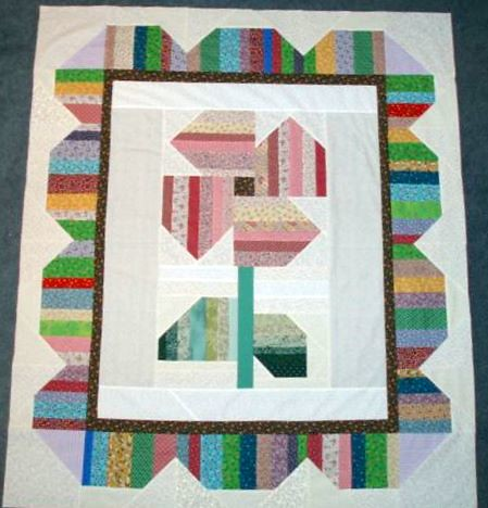 Happy String Flowers For Baby Free Quilt Pattern Flickr