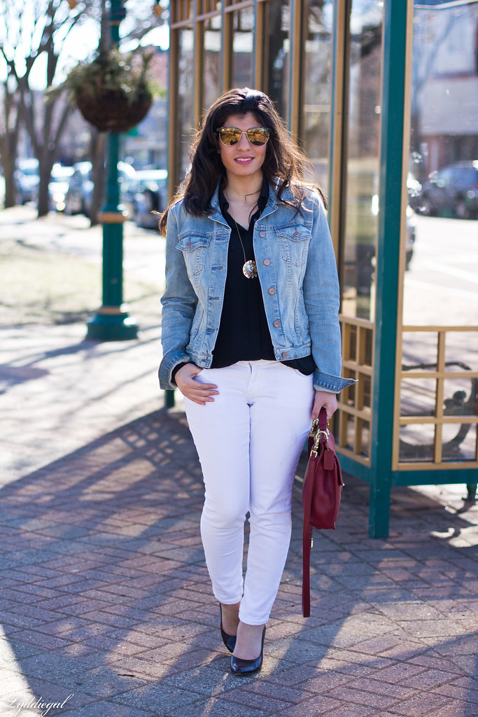 White Jeans Denim Jacket Jpg Lydia Abate Flickr