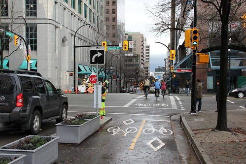 Hornby Separated Bike Lanes 1 | by Paul Krueger