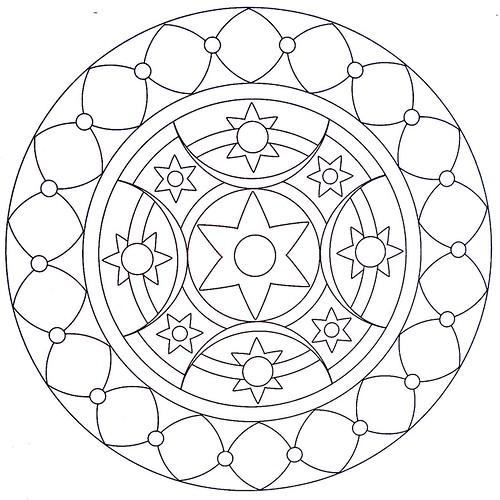 Mandala Coloring Page Arabic moldovancsaba Flickr