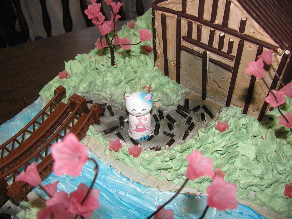 ... Japanese Garden Theme Cake: The Making 11 | By Cakethulhu